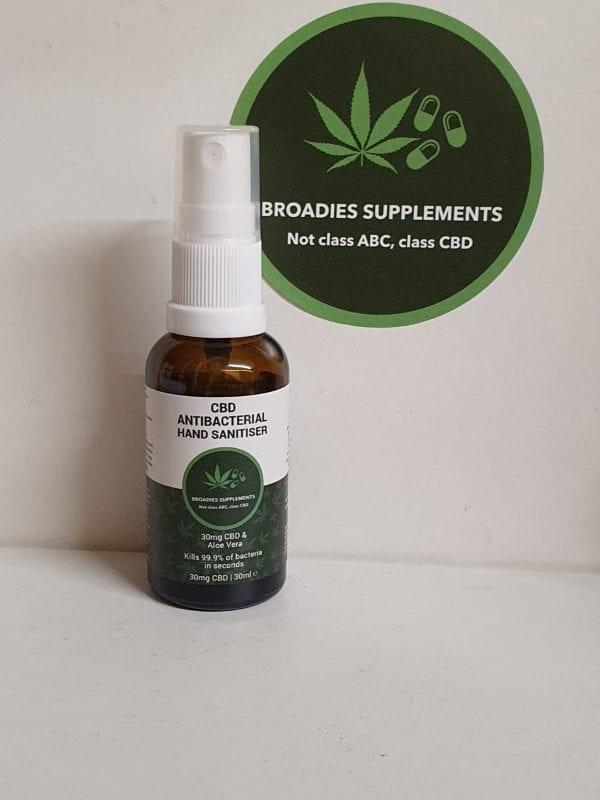 Broadies Supplements Anti-Bacterial Hand Sanitiser 30ml count(alt)