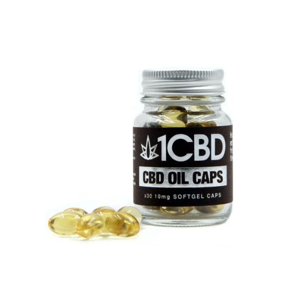 1CBD Soft Gel Capsules 10mg CBD 30 Capsules count(alt)