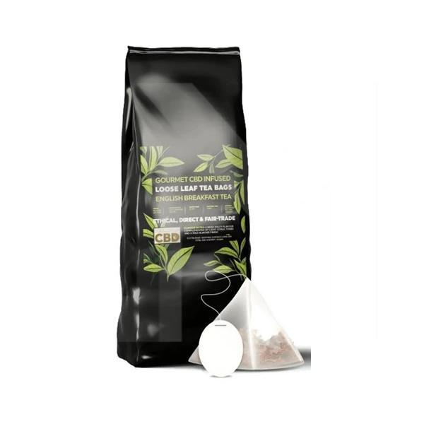 Equilibrium CBD Gourmet Loose Leaf Tea Bags - English Breakfast Tea count(alt)