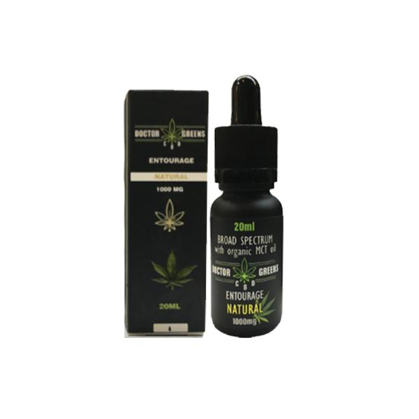 Doctor Green's CBD Drops Tinctures 1000mg 20ml count(alt)