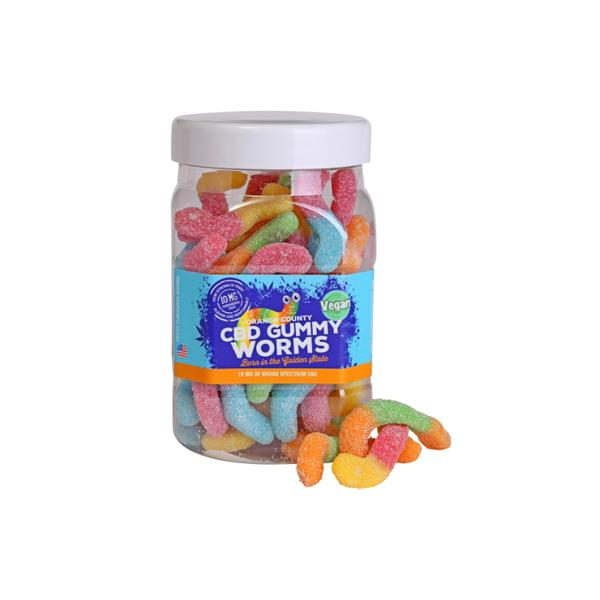 Orange County CBD 10mg Gummy Worms - Large Pack count(alt)