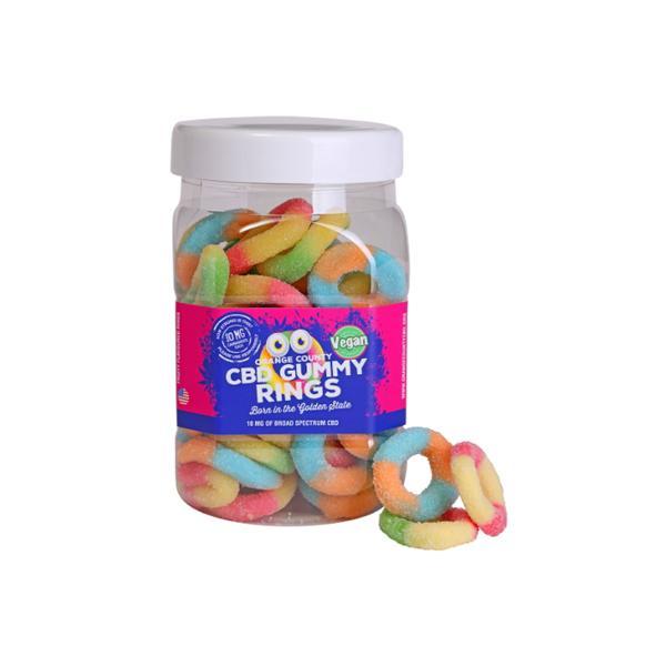 Orange County CBD 10mg Gummy Rings - Large Pack count(alt)