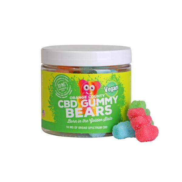 Orange County CBD 10mg Gummy Bears - Small Pack count(alt)