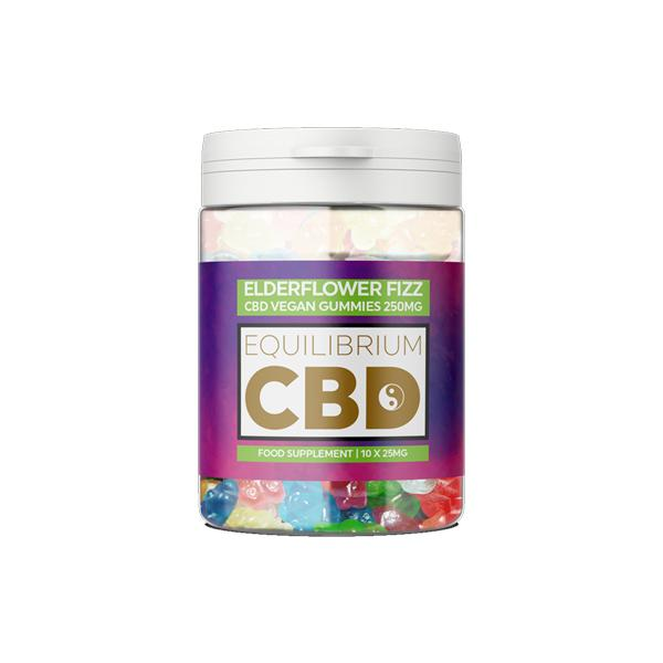 Equilibrium CBD 250mg CBD Vegan Gummy Bears - Elderflower Fizz count(alt)