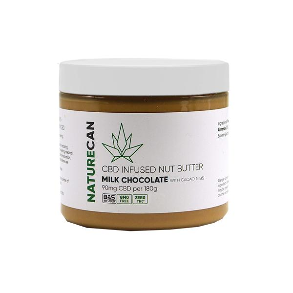 Naturecan 90mg CBD 180g Nut Butter Milk Chocolate with Cacao Nibs count(alt)