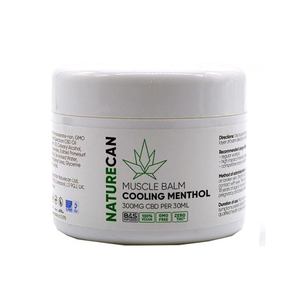 Naturecan 300mg CBD Cooling Menthol Muscle Balm count(alt)