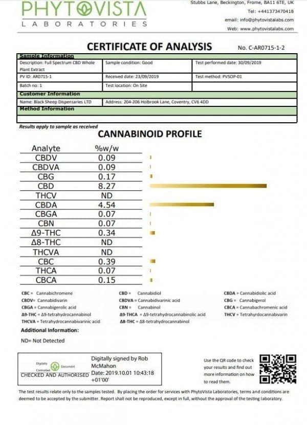 1000mg CBD Paste Whole Plant Cannabis Sativa Extract Syringe - 1ml count(alt)