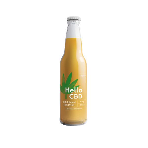 Hello CBD 15mg CBD Infused Soft Drink 330ml - Tropical count(alt)