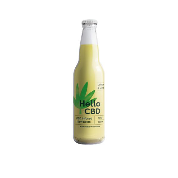 Hello CBD 15mg CBD Infused Soft Drink 330ml - Lemon & Lime count(alt)