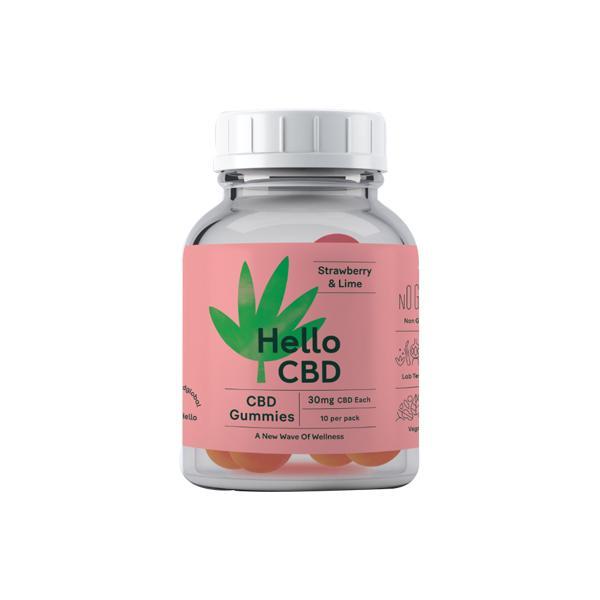 Hello CBD 300mg CBD Gummies - Strawberry & Lime count(alt)