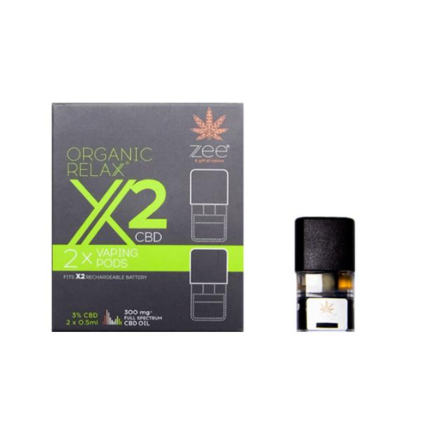 Zee Organic Relax X2 CBD Replacement Pods 300mg CBD* count(alt)