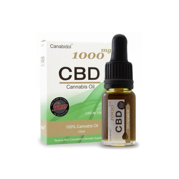 Canabidol 1000mg CBD Raw Cannabis Oil Drops 10ml count(alt)