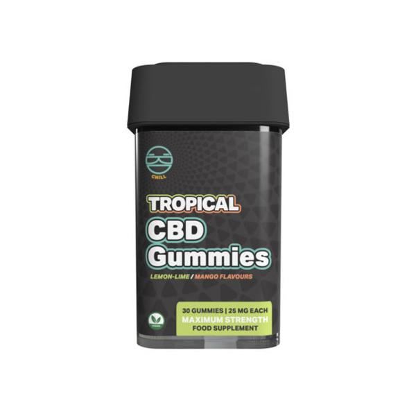 Zoetic 750mg CBD Chill Gummies - Tropical count(alt)