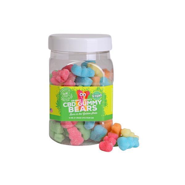 Orange County CBD 25mg Gummy Bears - Large Pack count(alt)