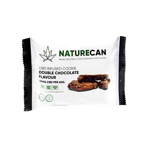 Naturecan 25mg CBD Double Chocolate Cookie 60g count(alt)