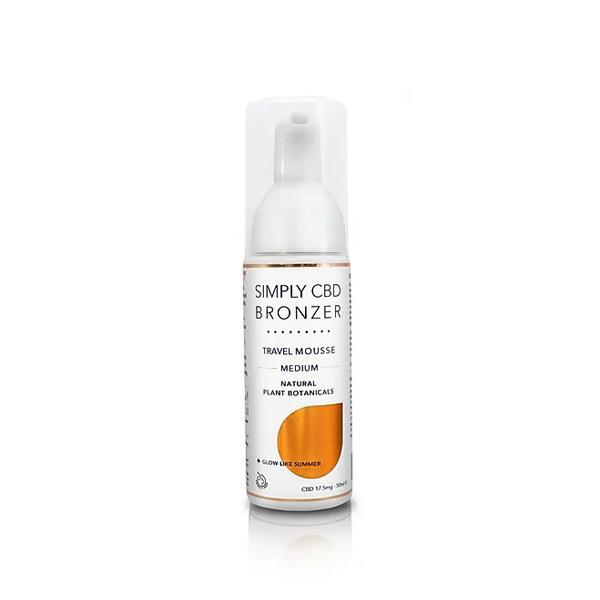 Simply CBD Bronzer 17.5mg CBD Spray Tanning Mousse 50ml count(alt)