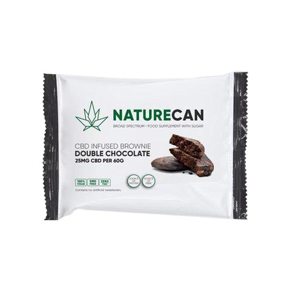 Naturecan 25mg CBD Double Chocolate Brownie 60g count(alt)