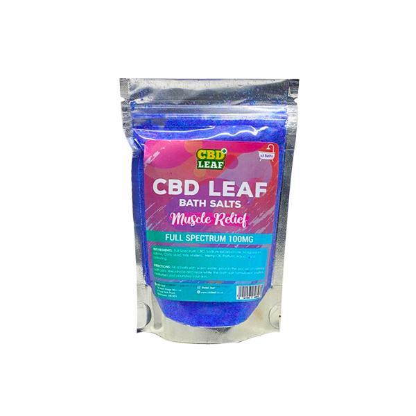 CBD Leaf Full Spectrum 100mg CBD Bath Salts - Muscle Relief count(alt)