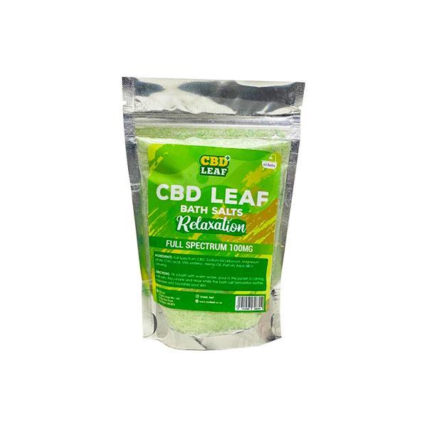CBD Leaf Full Spectrum 100mg CBD Bath Salts - Relaxation count(alt)