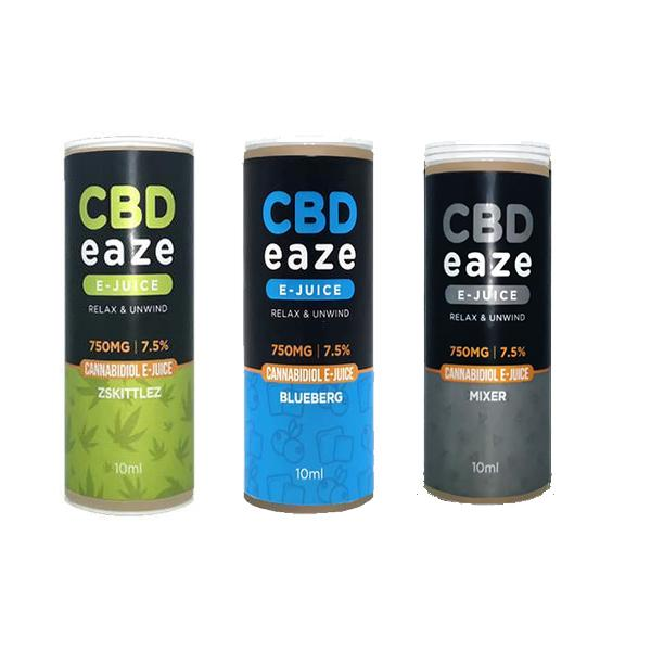 CBD Eaze 750MG CBD 10ml E-Liquid count(alt)