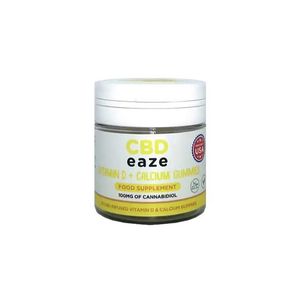 CBD Eaze Vitamin D & Calcium 100mg CBD Gummies count(alt)