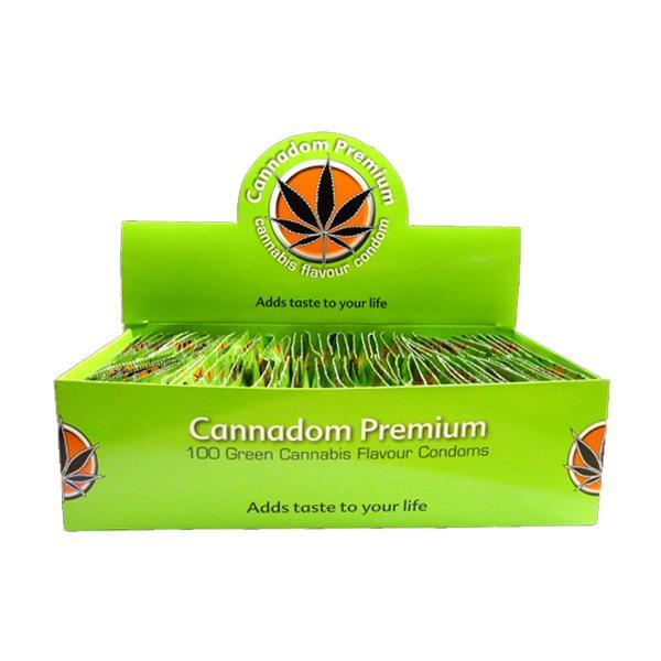 Cannadom Premium Cannabis Flavour Condoms count(alt)