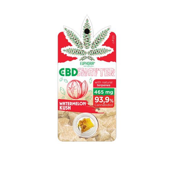 Euphoria 465mg CBD Shatter Watermelon Kush 0.5g count(alt)