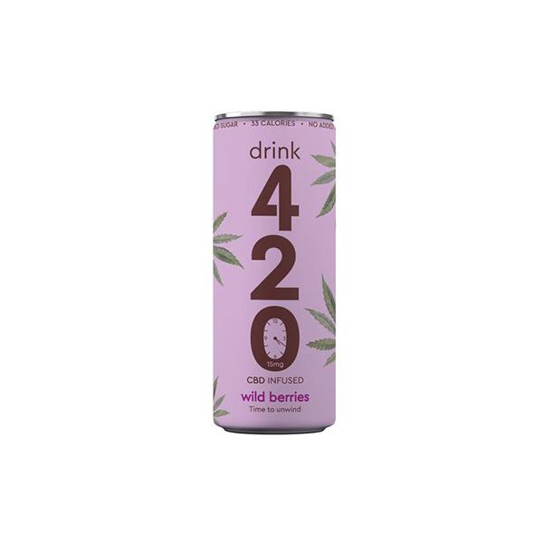 Drink 420 CBD 15mg Infused Sparkling Drink - Wildberry count(alt)