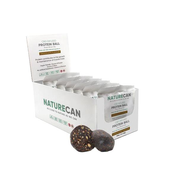 Naturecan 25mg CBD Protein Ball 40g count(alt)