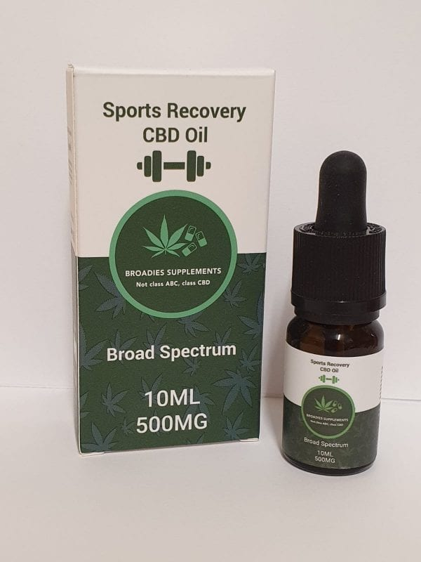 Broadies Supplements Sports Recovery CBD Oil count(alt)
