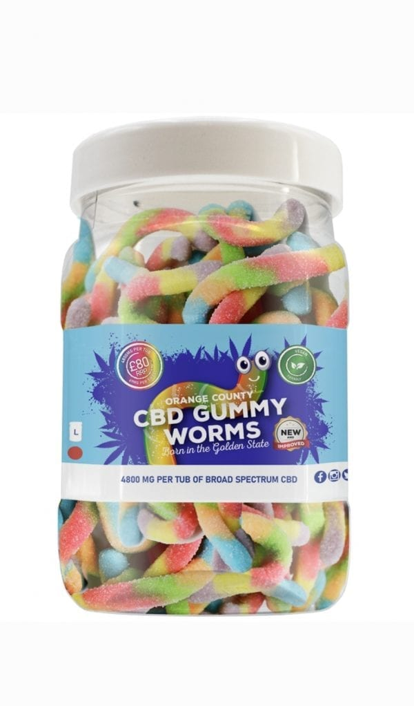 Orange County CBD - Gummy Worms count(alt)