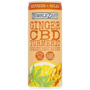 Bumblezest Refresh & Relax Ginger Turmeric & CBD Sparkling Water 250ml count(alt)