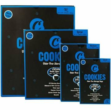 Cookies Zip Re-sealable Smell Proof / Odor Free Bags count(alt)